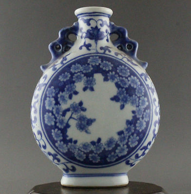 Antique Chinese blue and white porcelain painted porcelain vase 160mm