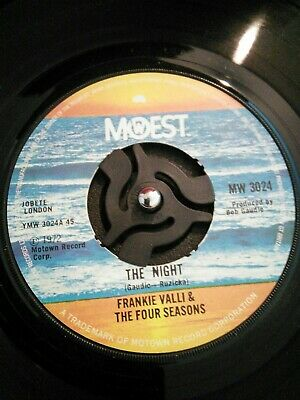"Frankie Valli & The Four Seasons ‎The Night Vinyl 7"" Northern Soul MW 3024 1975"