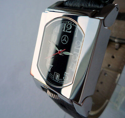 Mercedes Benz Classic Car Art Deco Accessory Swiss Made Design Automatic Watch