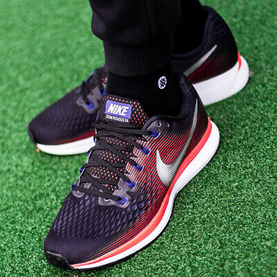free shipping f44dc 9780f NIKE AIR ZOOM PEGASUS 34 chaussures hommes sport loisir sneaker rouge  880555-006