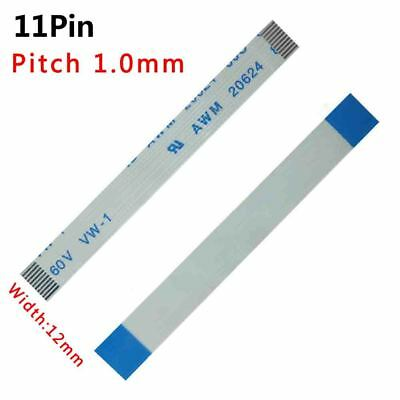 Pitch 1.0mm 11P FFC FPC Flexible Flat Cable 50mm-3000mm Forward/Reverse W:12mm