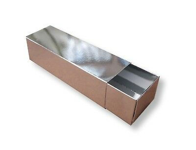 50 Small Silver Macaroon  Boxes, Cakes, Biscuits Etc