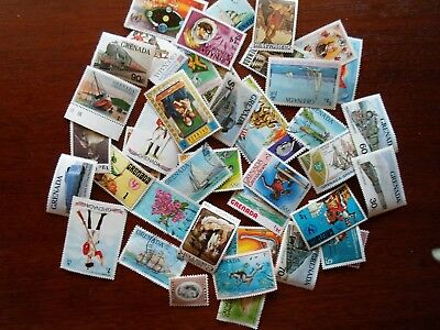 Collection lot 40 different stamps of Grenada