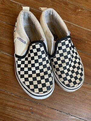 61ad3b73e9 Vans Slip On Checkerboard White Black Checkered Canvas Kids Youth Boys Shoes  12