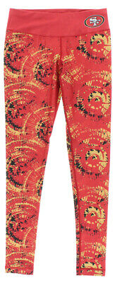 d978732fa308f Forever Collectibles Womens San Francisco 49ers NFL Thematic Leggings Red S
