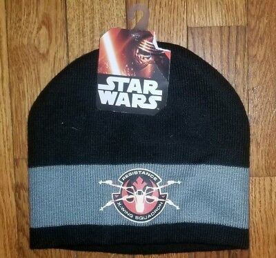 NWT Disney Boys Star Wars Winter Beanie Cap Hat X-Wing Squadron c7f87867a39a