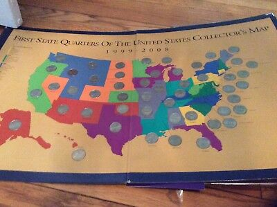 State Quarter Map Us State Quarter Collection 1836 Picclick - Us-map-for-quarters