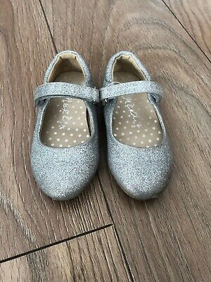 Girls Next Silver Sparkly Shoes Size 6 Infant