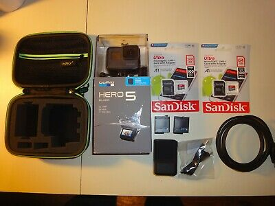 NEW GoPro Hero 5 Black with REMO Remote Control & 20 pieces Accessory Package 4K