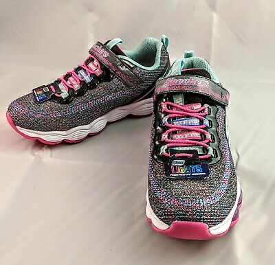 New In Box Skechers S Lights Girl s Glimmer Lights Shoes Size 2 Light Up 02cd416a09