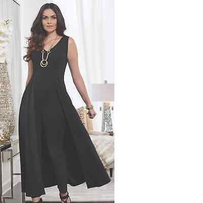 ed62bf9ddb1 Midnight Velvet Rapture Plus 1X 2X 3X Black semi Formal Jumpsuit Skirt Pant  Set
