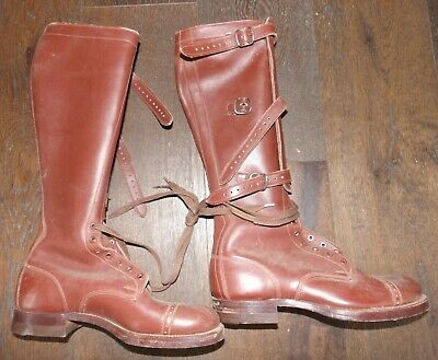 ebc6a0ff75f Authentiques Boots leather lace legging WW2 bottes cavalerie US Patton 1941