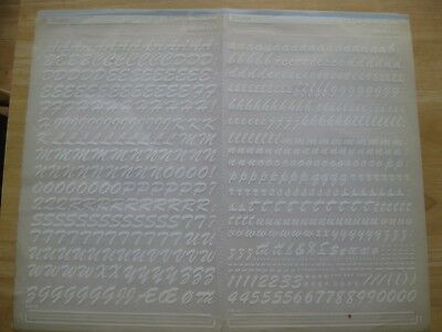 1 x Mecanorma (like Letraset) Brush Sheet no 333.48 13mm White