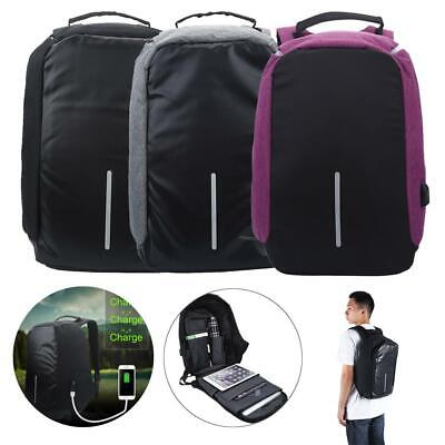 Anti-theft Unisex Laptop Notebook Backpack With USB Charging Business School Bag