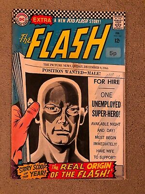 The Flash, No 167 comic 1960s Silver Age - Free P&P