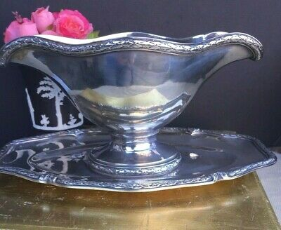 Antique French Christofle Silver Plate Bowl Gravy Sauce Dish