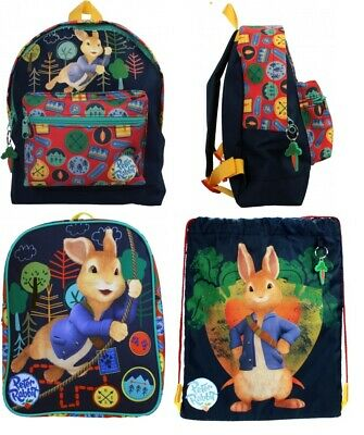 Kids Boys Girls Official Peter Rabbit Character Junior School Backpack Bag Gym