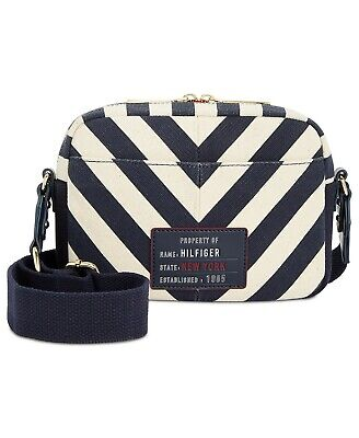 32d1d53f5ea TOMMY HILFIGER WOMEN'S Bowers Chevron Canvas Crossbody Bag - $59.99 ...
