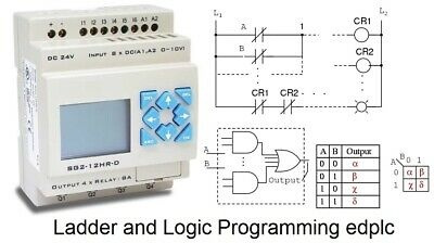 PLC 24V Programmable Logic Controller Basic & Advanced Programming Software USB
