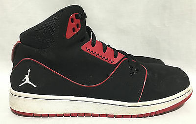 6ba3dc96c06e0f NIKE JORDAN FLIGHT Sneakers Kids Youth Size 2Y Black Gray Red ...