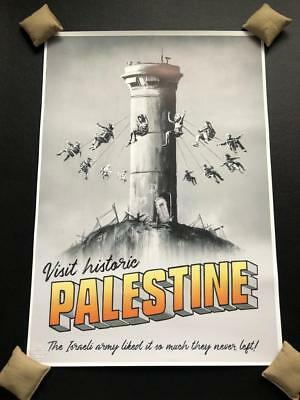 Banksy Palestine Poster From Walled Off Hotel 2018