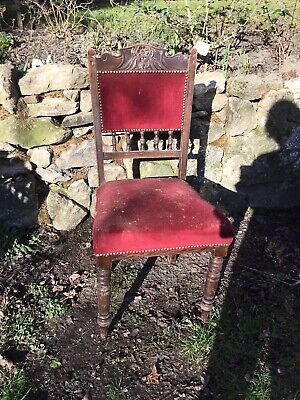 Beautiful vintage wooden dining chair for Reupholstering