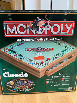 Wooden Cluedo Monopoly Chess Checkers Draughts Cribbage Dominoes