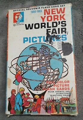 Vintage 1964-1965 New York World's Fair Picture Flash Card 28 Card Set Complete