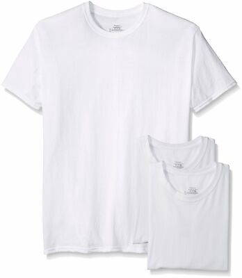 Hanes Mens 3 Pack Tagless Crew Neck T Shirt White XXX-Large Big Men Size 3XL