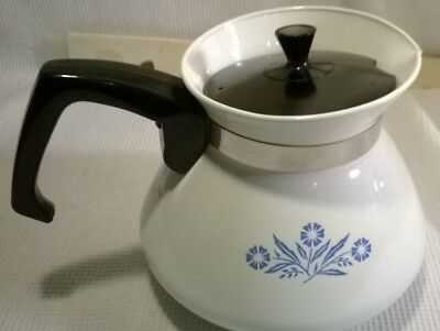Vintage Corning Ware Blue Flower 6 Cup Tea Coffee Pot with Lid P-104