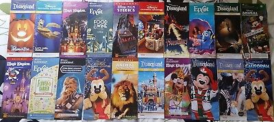 20 East & West Coast Disney Park Maps Disneyland & DCA Plus All Of Disney World
