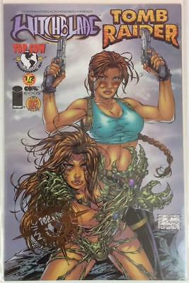 Witchblade Tomb Raider #1/2 DF exclusive foil ltd to 2500 with COA (DF 2000)