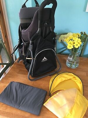 52445ccb17 Vaude Butterfly Comfort Baby / Child Hiking Backpack Carrier With  Accessories