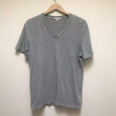 c6c0270bd James Perse Standard Mens V Neck T-Shirt Top Size 1 Small Gray Short Sleeve