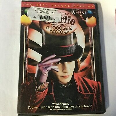 CHARLIE AND THE CHOCOLATE FACTORY with Johnny Depp  DVD - 2 disc Deluxe Edition