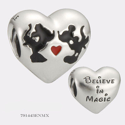 1ee92564d GENUINE PANDORA S925 Minnie & Mickey Kiss Disney Bead 791443ENMX ...