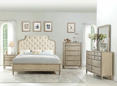 ROCKLAND TRADITIONAL CHAMPAGNE Gray Bedroom Furniture - 5 ...