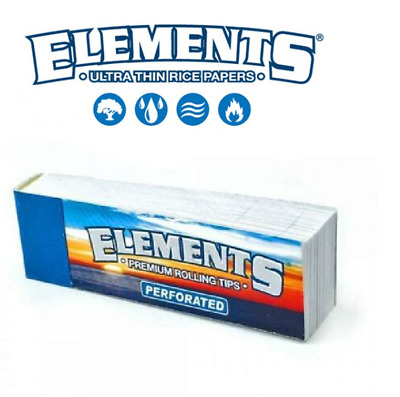 Elements Wide Rolling Tips Cigarette Filter Joint Roller Papers Roaches Book NEW