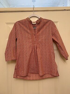 bedece690a8 ANOKHI 3/4 SLEEVE Tunic Blouse Womens Size Small S - $15.00 | PicClick