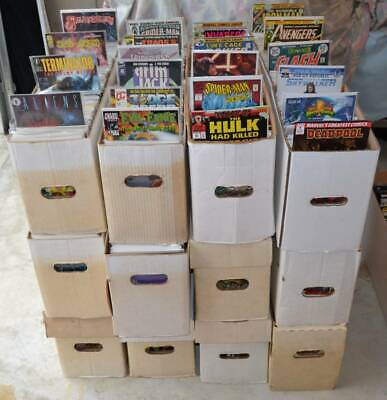 Mixed Lot box of 100 comic books- **ONLY Marvel & DC Comics ONLY- no duplicates