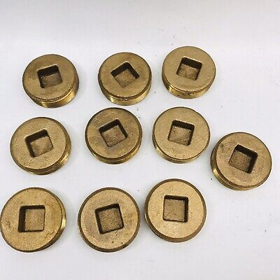 """Lot Of 10 Sci 2"""" Clean-Out Plug - Solid Brass Cover, Square Drain Access"""
