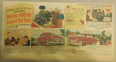 "Ford  Ad: ""Why Ford's V-8 Engine's Out Front""  from 1940's"