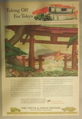 GM War Production Ad: Taking Off For Tokyo from 1945 Size: 11 x 15 Inches