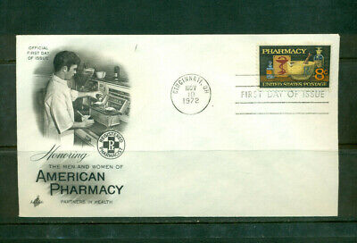 1972 First Day of Issue - honoring Pharmacy - Art Craft Cachet