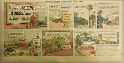 "Ford  Ad: ""It Pays to Believe In Signs says Al Esper""  from 1940's"
