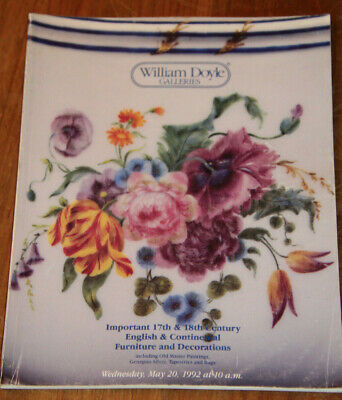 WILLIAM DOYLE GALLERIES  auction catalog may 1992 english  continental furniture