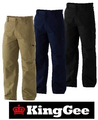 """King Gee - Mens """" Workcool""""  Cotton Drill Cargo Work Pants - K13800"""
