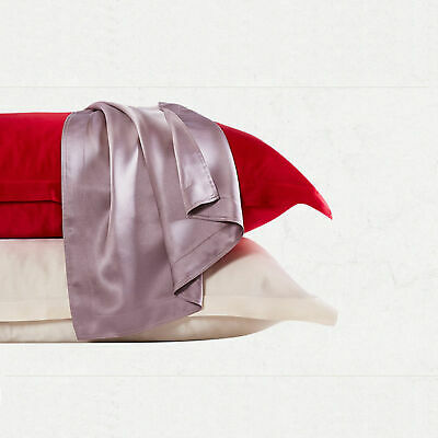 Luxury Travel Pillow Case Cover Pillowcase Mulberry Silk Multi-Color 21 Momme