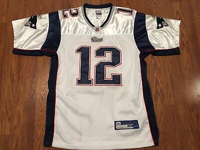 f36998c32 Reebok Tom Brady  12 New England Patriots White Authentic NFL Jersey Size  48 RBK