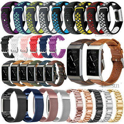 Milanese/Stainless Steel/Silicone Watch Wrist Band Strap For Fitbit Charge 3 2